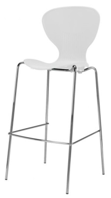 Piazza Poly High Stool White