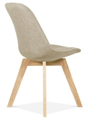 Crosstown Muphilstered Chair Beige Fabric Rear Angle