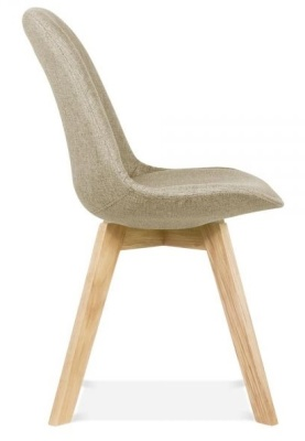 Crosstown Upholstered Chair Beige Fabric Side View