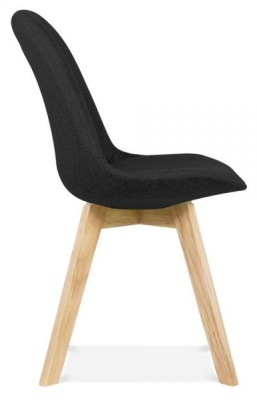 Crosstown Upholstered Dining Chair Black Fabric Side View