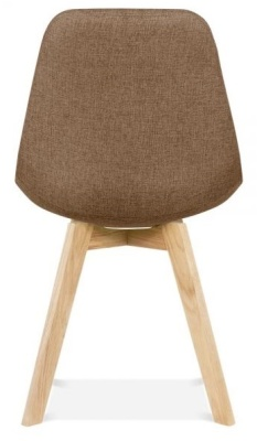 Crosstown Chair With Brown Fabric Rear View