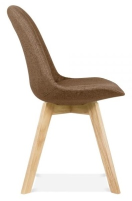 Crosstown Dining Chair Brown Fabric Side View