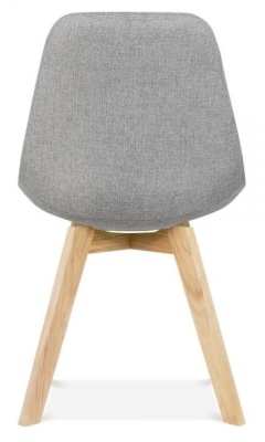 Crosstown Dining Chair Grey Fabric Rear View