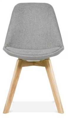Crosstown Dining Chair Grey Fabric Front View