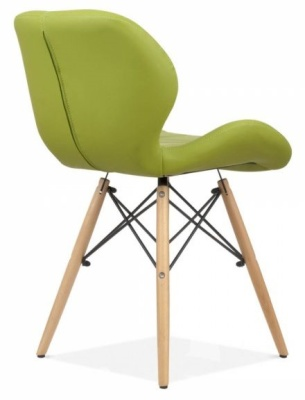 Chaz Dining Chair In Apple Green Rear Angle