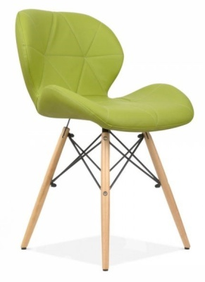 Chaz Dining Chair In VApple Green Front Angle