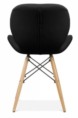 Chaz Designer Dining Chair In Black Rear View
