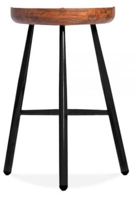 Tyso Contemporary High Stool Black Frame