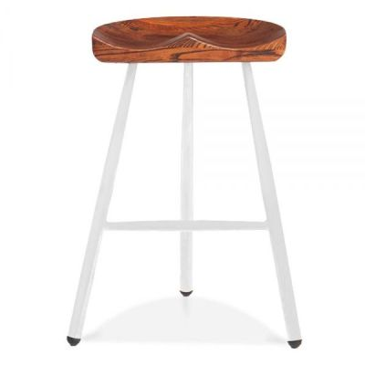 Tyso High Stool With A White Frame