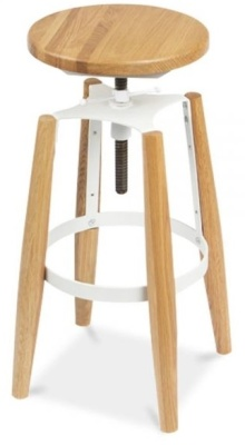 Ruben High Stool White Fittings