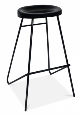 Cadix High Stool In Black