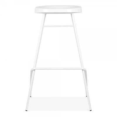 Cadiz High Stool In White Front View