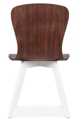 Manhattan Chair With A White Frame Rear View