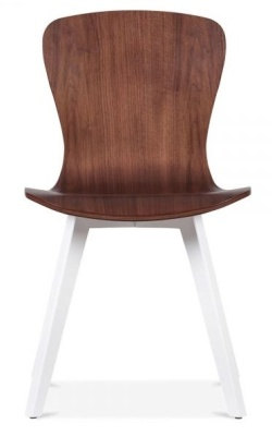 Manhattan Dining Chair Front View With White Legs