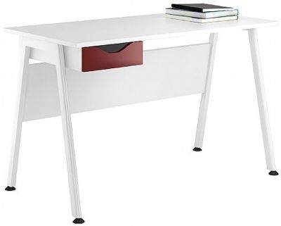 Aspire Reflections Single Burgundy Drawer Desk