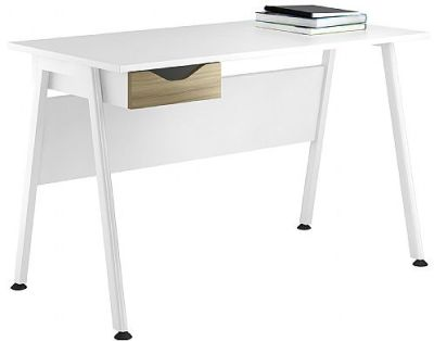 Aspire Refelections Ddesk With A Light Olive Drawer Front
