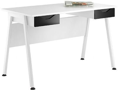 Aspire Reflections Desk With High Gloss Black Drawers