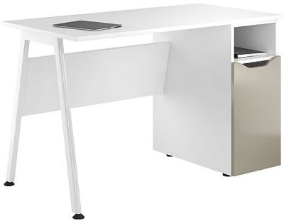 Aspire Reflections Cupboard Desk With A Stone Finish Door