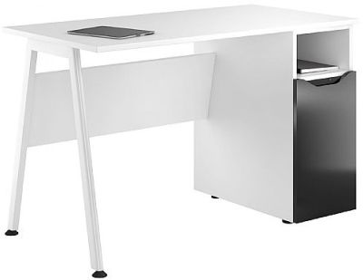 Aspire Refelections Cupboard Desk With A High Gloss Black Door