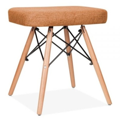 Eames Inspire Low Stool Orange Fabric Angle Shot