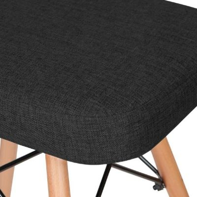 Eames Inspired DSW Low Stool Black Fabric Detail Shot