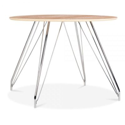 Oslo Table Natural Top Side View