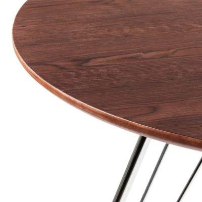 Oslo Table Walnut Top Detail