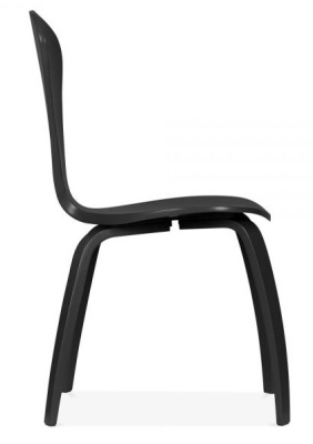 Cherner Chair In Black Side View