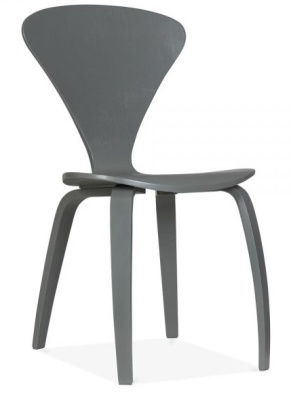 Cherner Chair In Dark Grey Angle View