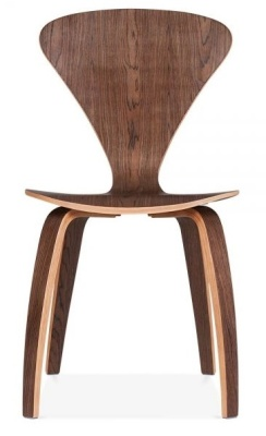 Cherner Chair In Walnut Front Face