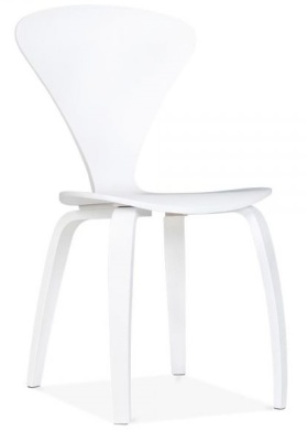 Cherner Chair In White Front Angle