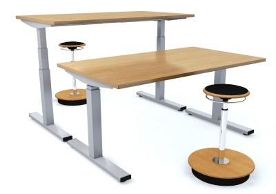 E Mobile Height Adjustable Desks 2