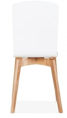 Acora Designer Cfafe Chair White Seat Rear View