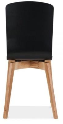 Acora Designer Chair Black Seat Reara View