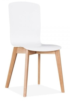 Acora Chair White Seat Front Angle