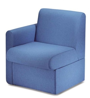 Sequest Chair Right Hand Arm Blue Fabric