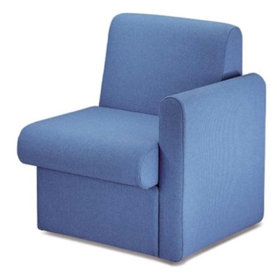 Sequat Chair Left Hand Arm Blue Fabric