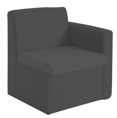 Sequest Chair Left Hand Arm Charcoal Fabric