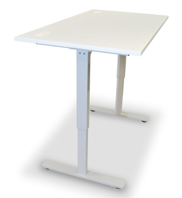 Dynamo Height Adjustable Sit Stand Desk White Top