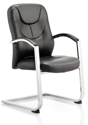 Paris Leather Cantilver Varm Chair Front Angle