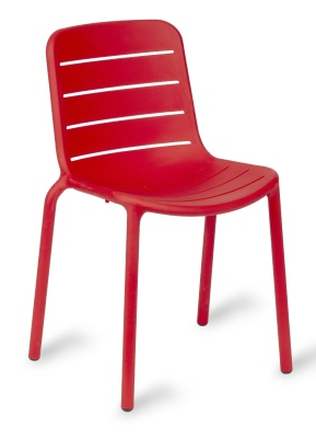 Freddie Poly Side Chair In Red