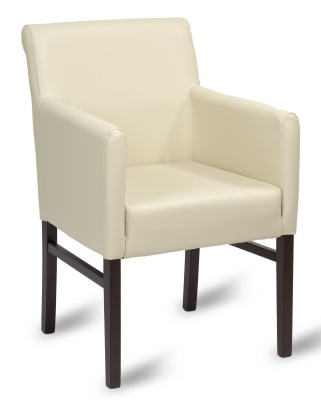 Glencoe Leather Armchair Ivory Leather