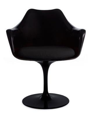 Blacxk Ntul;ip Chair Front View