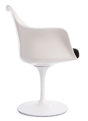 Tulip Chair In White Side View