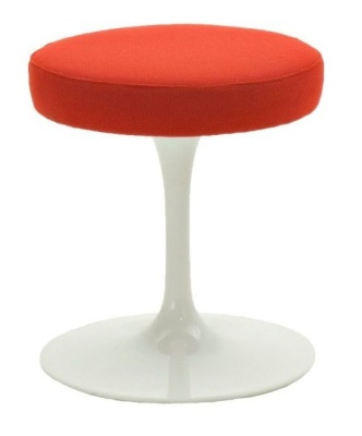 Tulip Low Stool Red Fabric