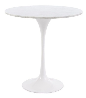 Tulip Ocassional Table With A Marbe Top