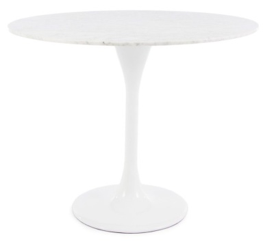 Tulip Table With A 900mm Diamter Marbe Top