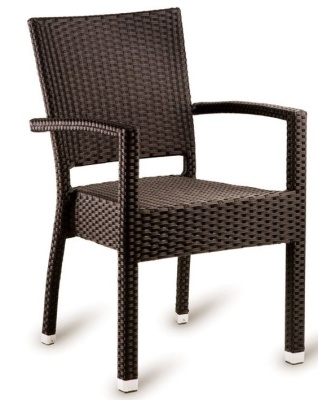 Susie Outdoor Armchair In Mocca Weave