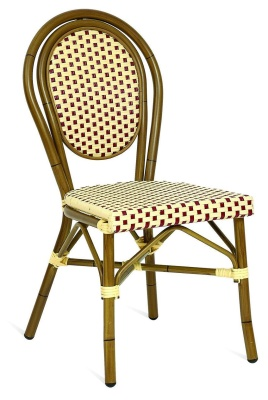 Limoges Indoor And Outdoor Side Chair Red And Cream