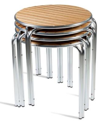 Teal Like Wood Aluminium Tables